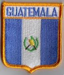 Guatemala Embroidered Flag Patch, style 06.